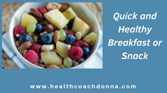 Quick and Healthy Breakfast or Snack