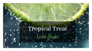 Lime slice on water